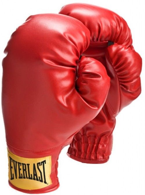 500x671 Everlast Traditional Training Boxing Gloves Small Size Red Mn
