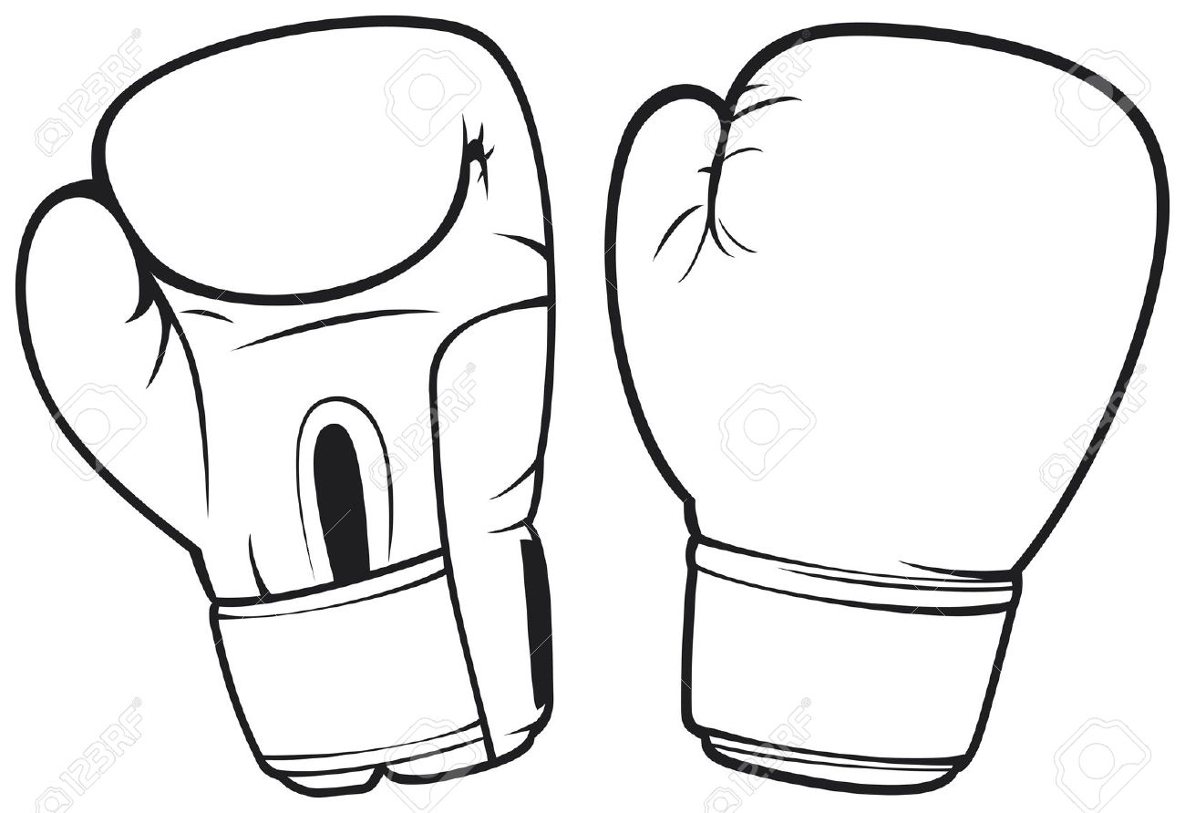1300x892 Black Clipart Boxing Glove