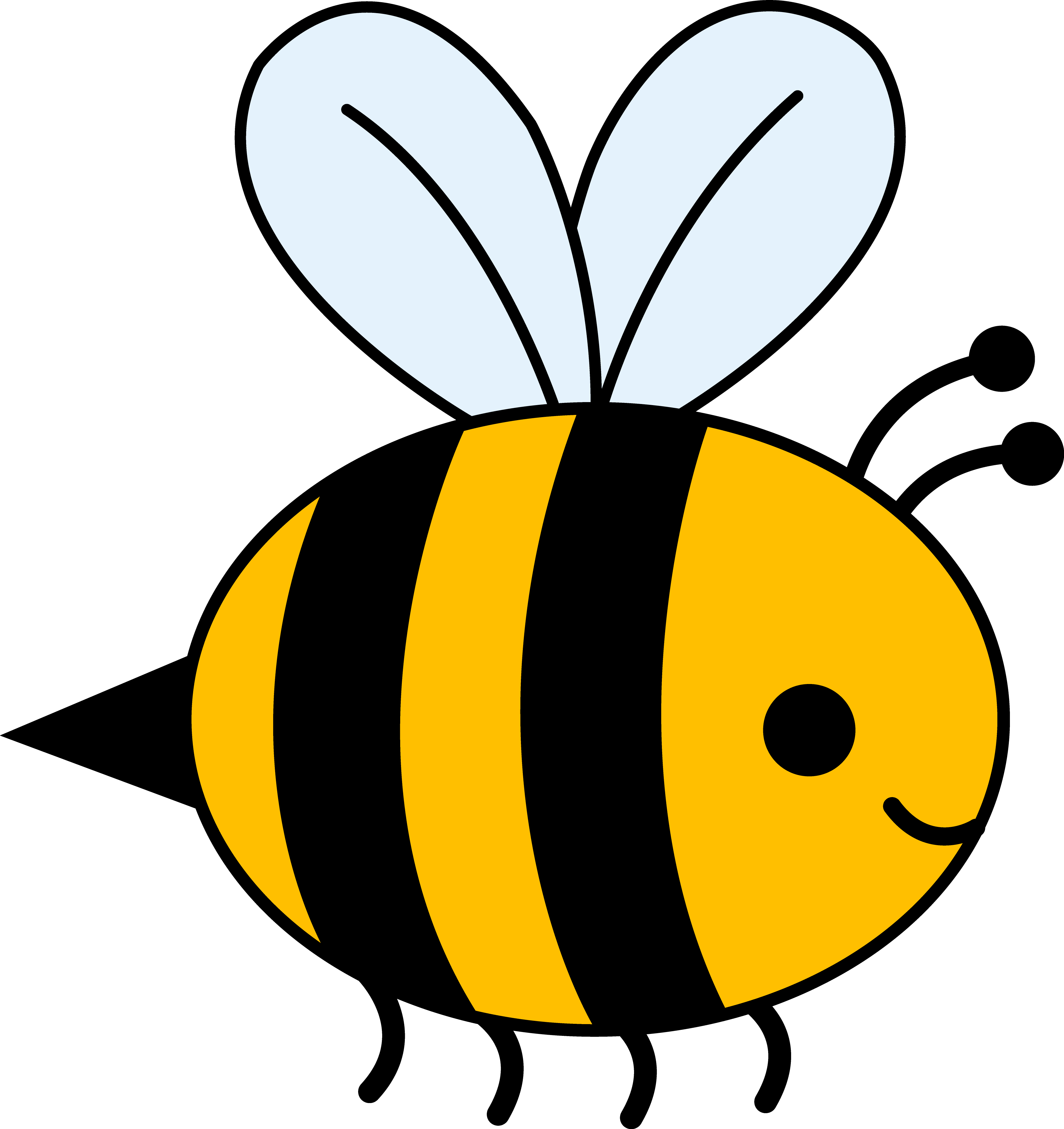 3895x4133 Bumble Bee Clipart
