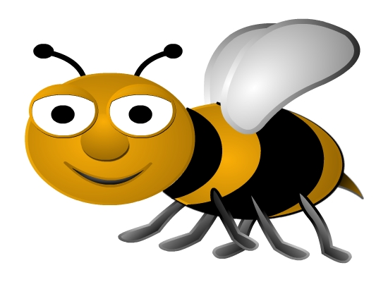 550x400 Cartoon Bumble Bee Clip Art Clipart Clipartcow