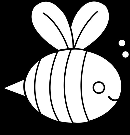 531x550 Cute Bumble Bee Line Art