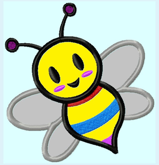 509x531 Free Cute Bee Clipart Image