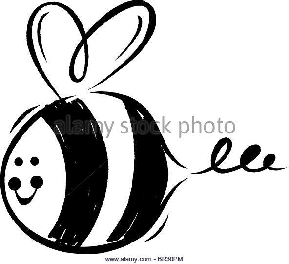 592x540 Black White Drawing Bumblebee Stock Photos Amp Black White Drawing