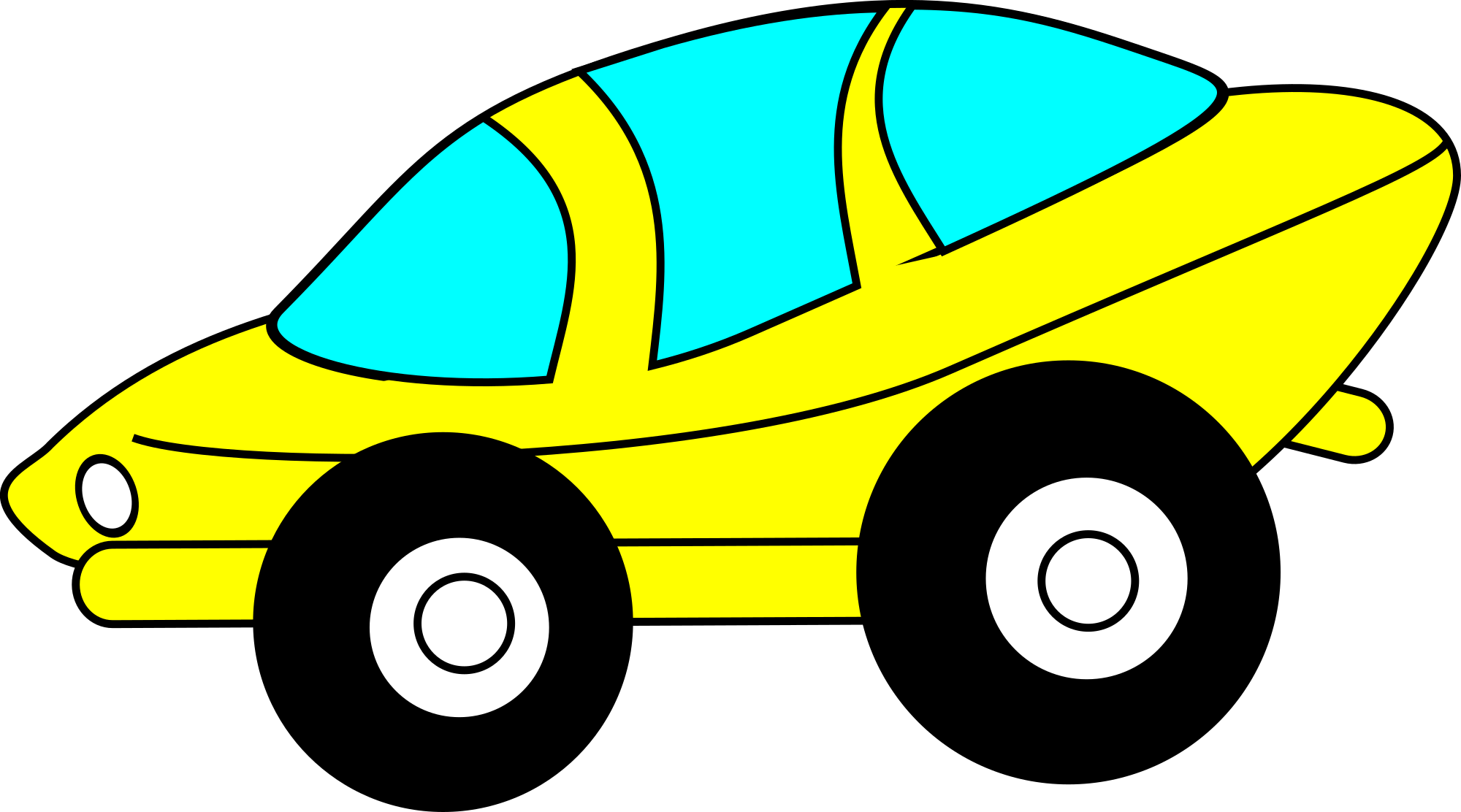 2000x1112 Cartoon Clipart Of Cars