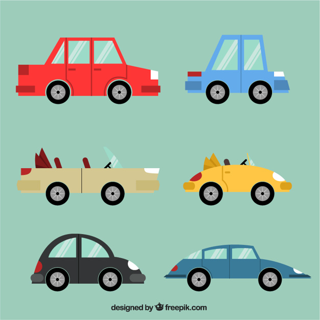626x626 Cartoon Retro Cars Vector Premium Download