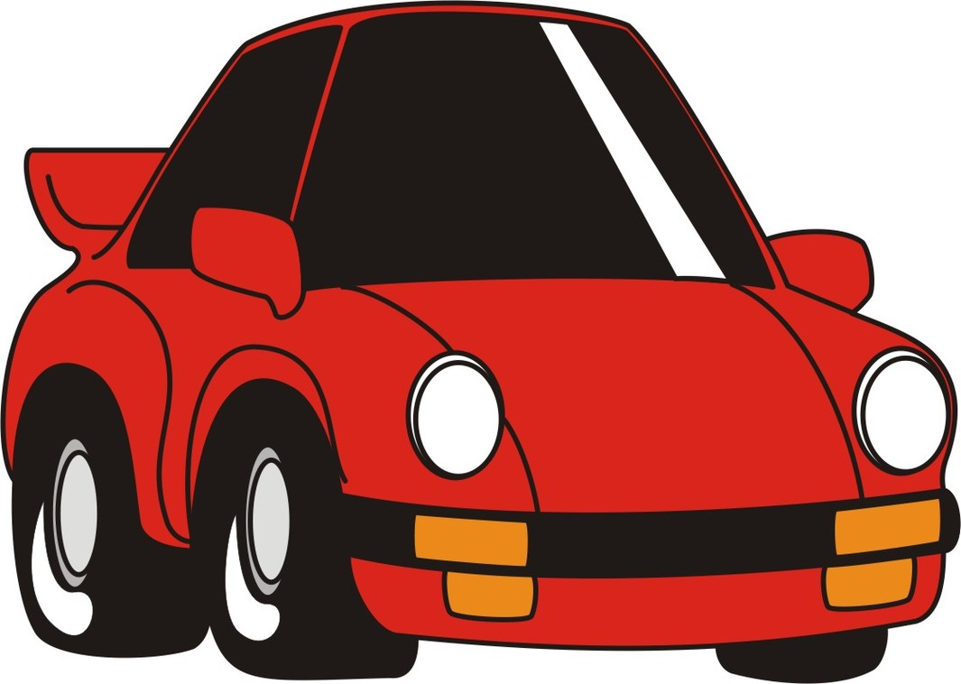 1065x758 Free Cartoon Car Clipart