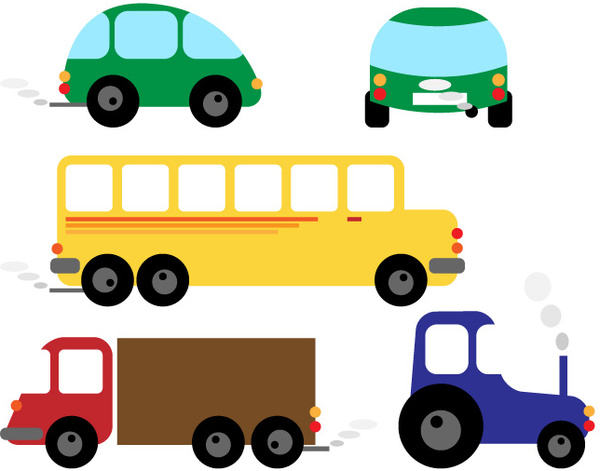 600x471 Funny Colors Cartoon Cars Free Vector Download (36,238 Free Vector
