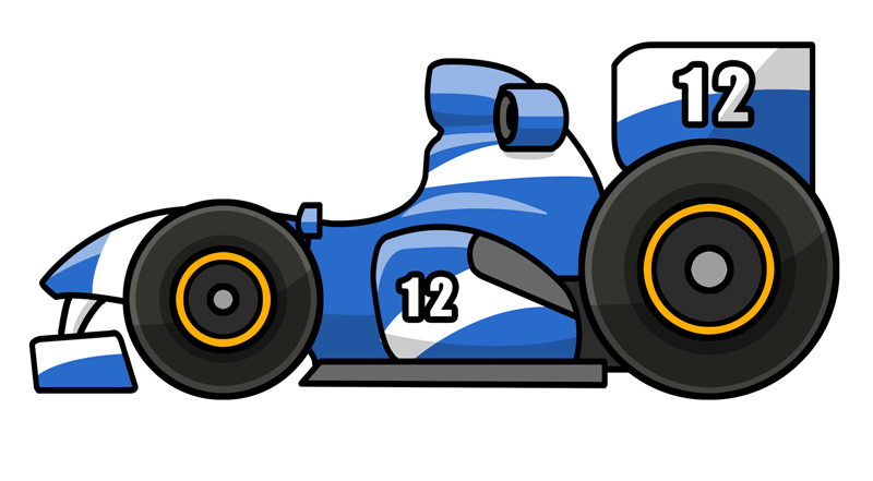 800x441 Race Car Cartoon Group