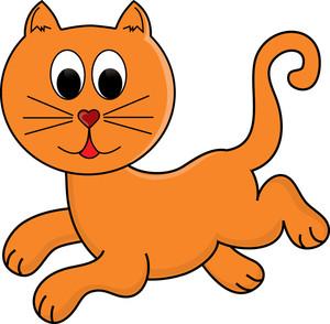 Cat orange. Picture of cartoon cats