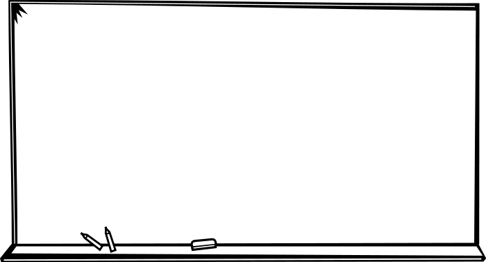 700x377 Free Chalkboard Clipart Black And White Image