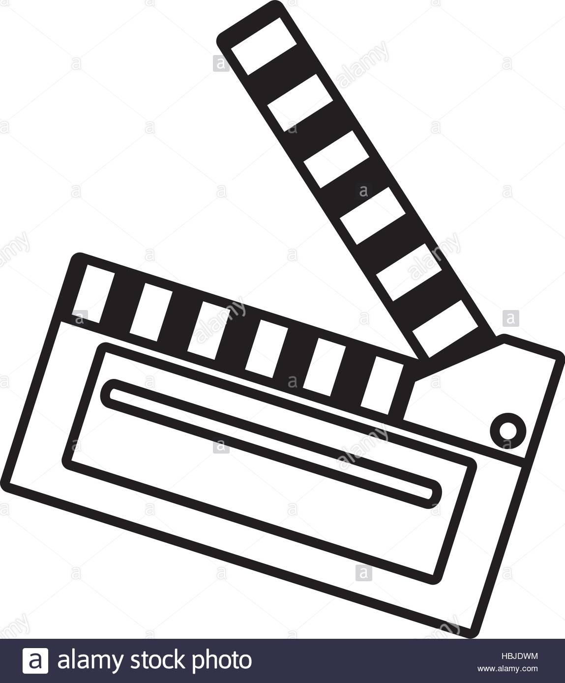 1149x1390 Film Clapper Chalkboard Scene Icon Outline Vector Illustration Eps