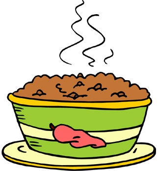 322x350 Bowl Of Chili Clipart