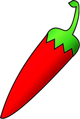 267x397 Red Chili With Green Tail