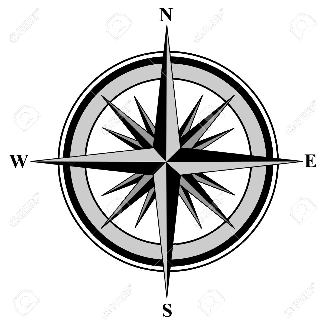 1300x1300 Compass Clipart North Point