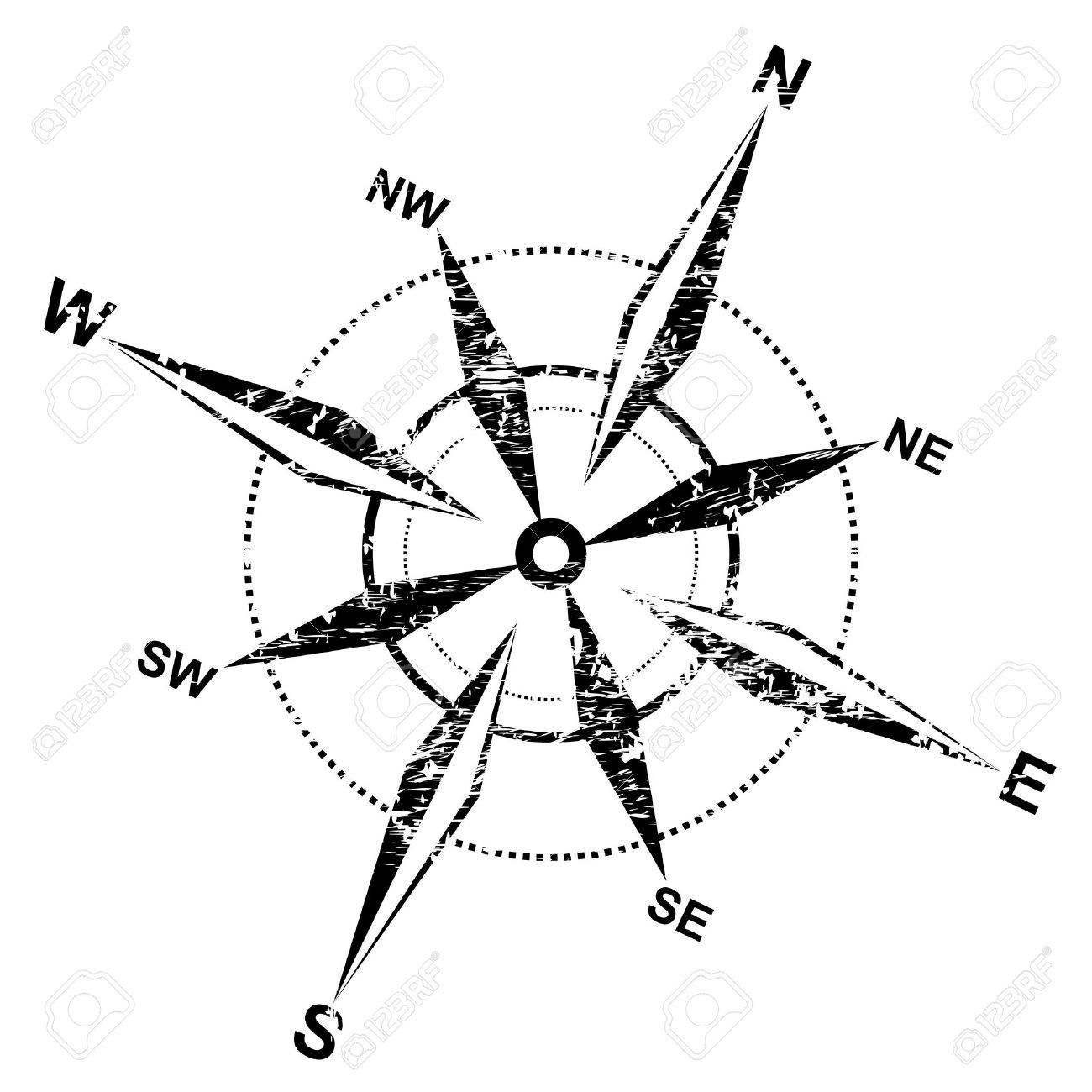 1300x1300 Distressed Compass Rose Royalty Free Cliparts, Vectors, And Stock