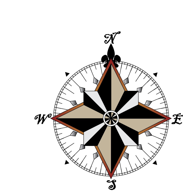 1415x1507 Vintage Compass Rose Clip Art 30