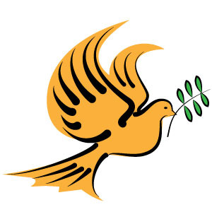 300x300 Dove With Olive Branch Vector