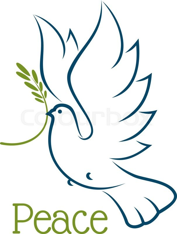 606x800 Flying Dove Or Pigeon With Olive Branch And Elegant Curved Wings