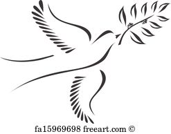247x194 Free Art Print Of Vector Symbol Of Dove Olive Branch Freeart