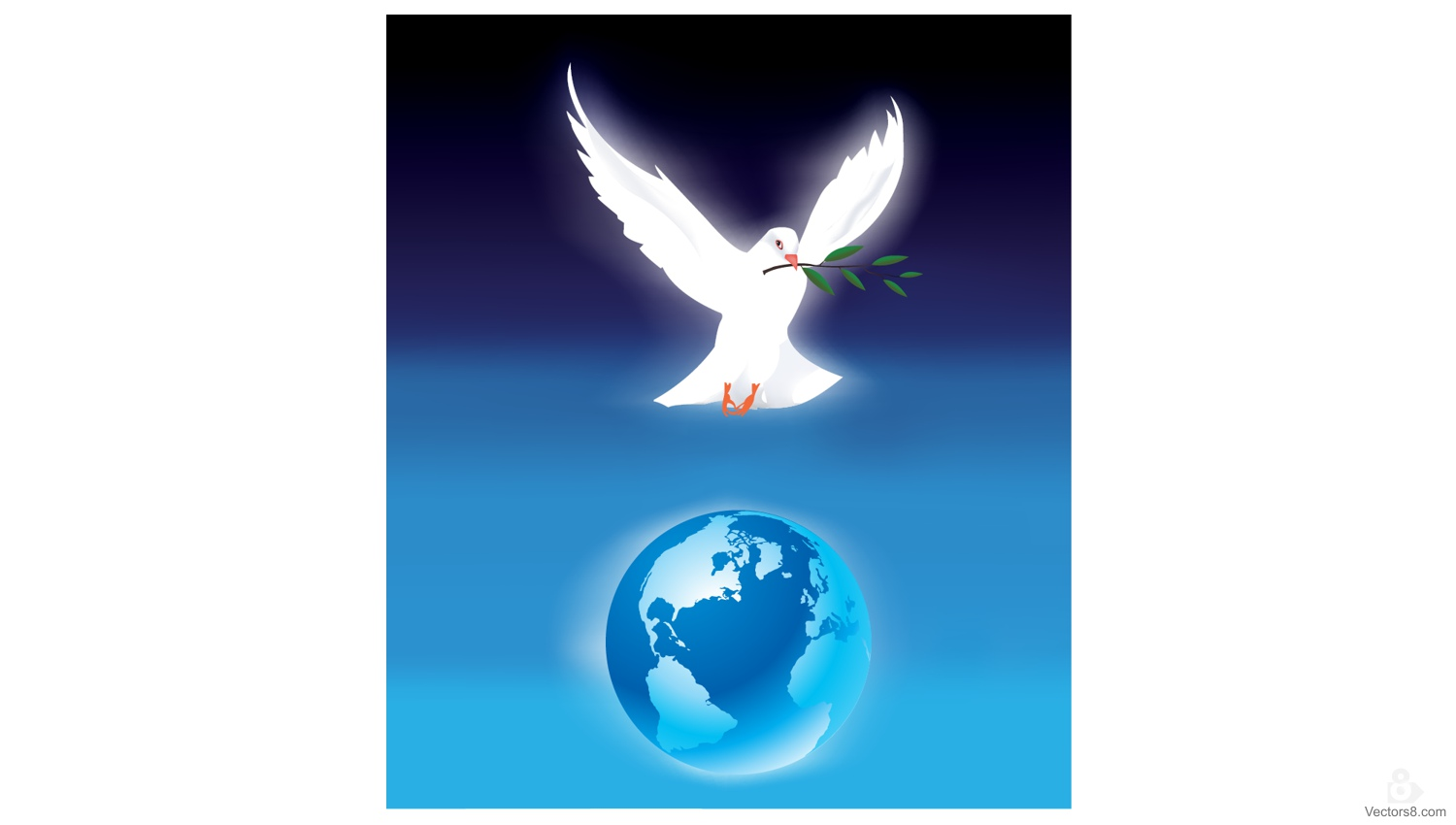 1500x850 Peace Dove With Olive Branch Above Earth Free Vector Amp Clipart