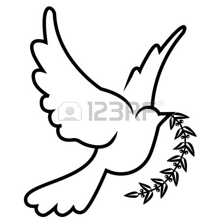 450x450 Vector Symbol Of Dove Olive Branch Royalty Free Cliparts, Vectors