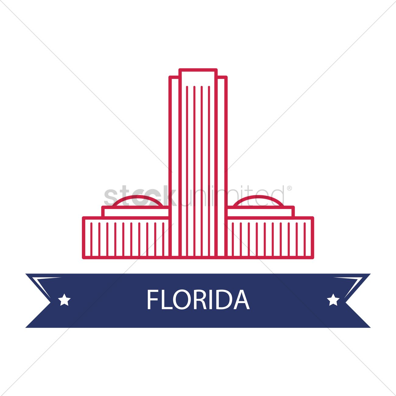 1300x1300 Florida State Capitol Vector Image