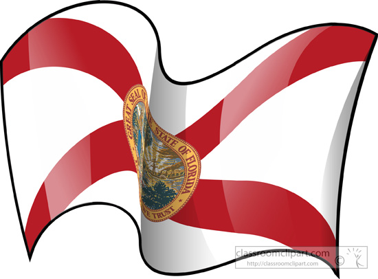 550x406 State Flags Clipart Florida State Flag Waving Clipart