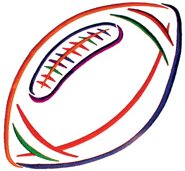 600x555 Football Outline Outline Of A Football Clipart 4