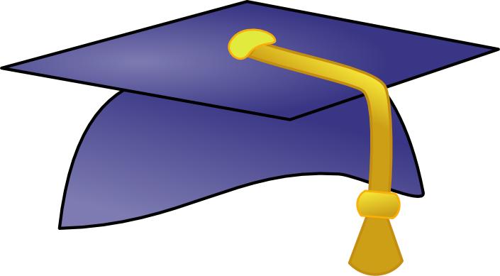 705x389 Graduation Caps Clip Art