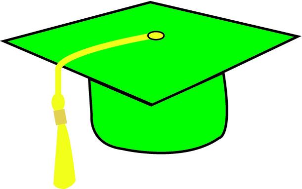 611x383 Graphics For Green Graduation Cap Graphics
