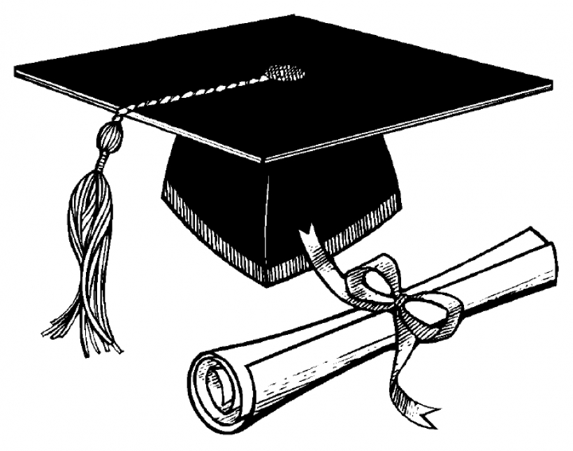 820x645 Graduation Cap Clipart Pertaining To Graduation Scroll Clipart