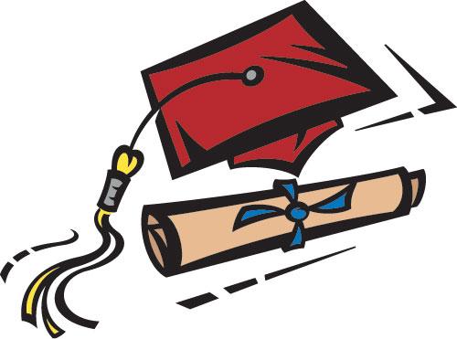 500x371 Maroon Graduation Cap Clipart