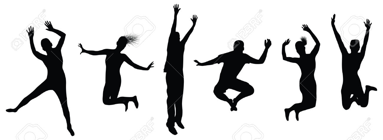 1300x476 Clipart People Jumping
