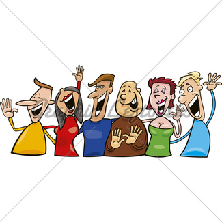 325x325 Group Of Happy People Gl Stock Images