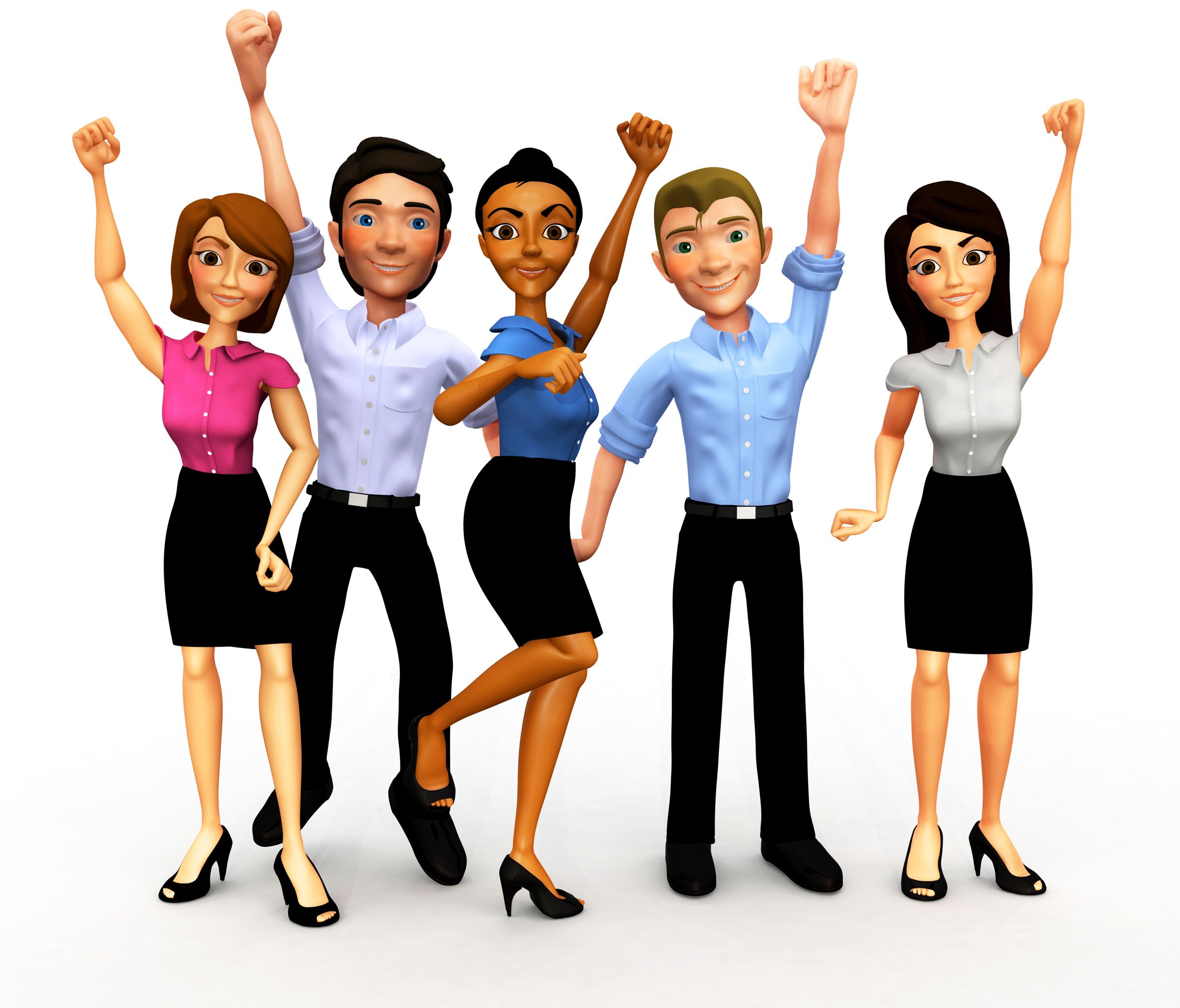 2400x2051 Happy People Work Clipart