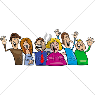 325x325 Big Set Of Happy People Gl Stock Images