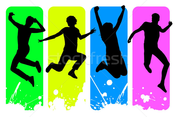 600x400 Happy People Stock Vectors, Illustrations And Cliparts Stockfresh