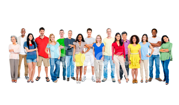 752x440 Multi Ethnic Group Of Happy People Standing Together Stock Photos