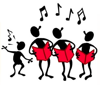 338x290 Happy People Singing Clipart Png