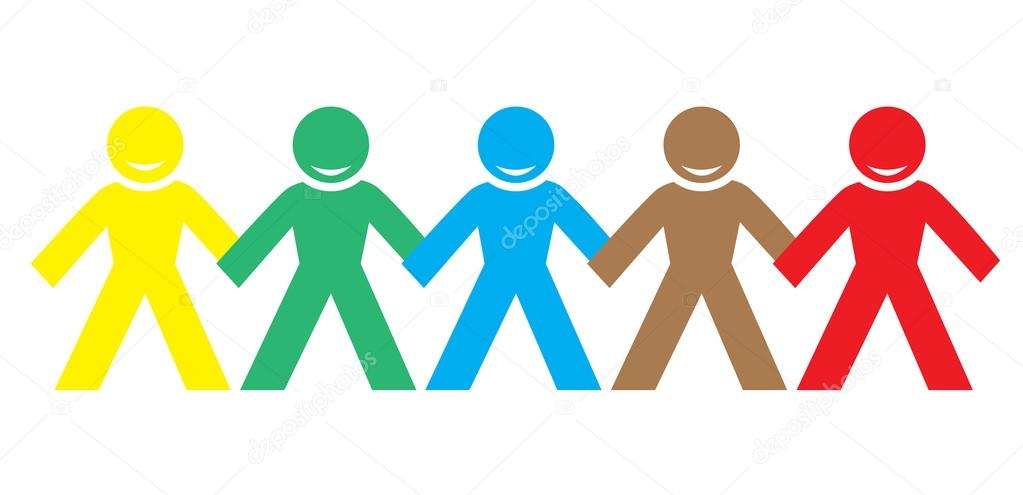 1023x495 Multi Color Happy People Holding Hands Stock Vector