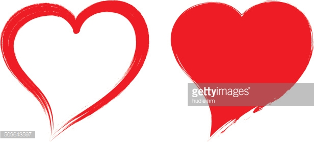 616x278 Vector Heart Shapes