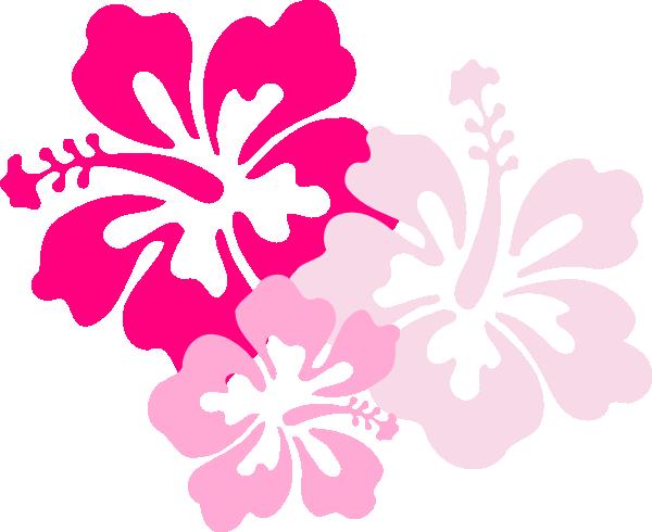 600x490 Hibiscus Pink Clip Art