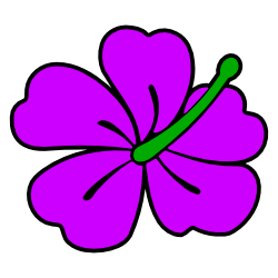 250x250 Purple Hibiscus Flower Clip Art Free Borders And Clip Art