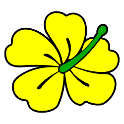 250x250 Yellow Hibiscus Flower Clip Art Free Borders And Clip Art