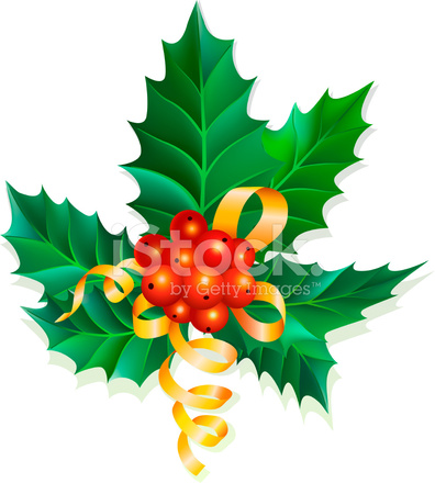 396x440 Christmas Holly Berries Stock Vector