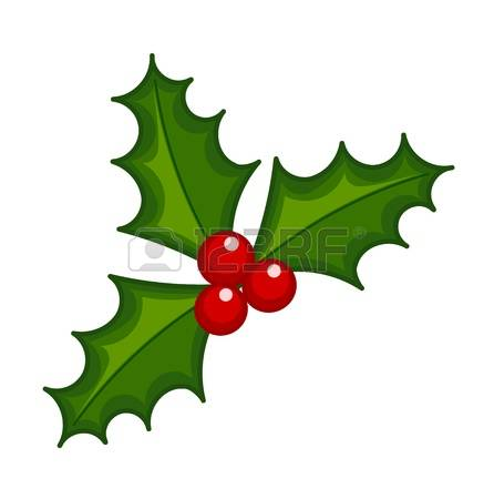 446x450 Holly Berries Clipart