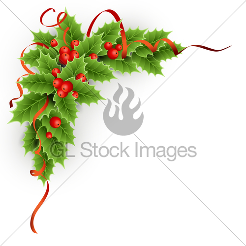 500x500 Vector Christmas Holly With Berries. Gl Stock Images