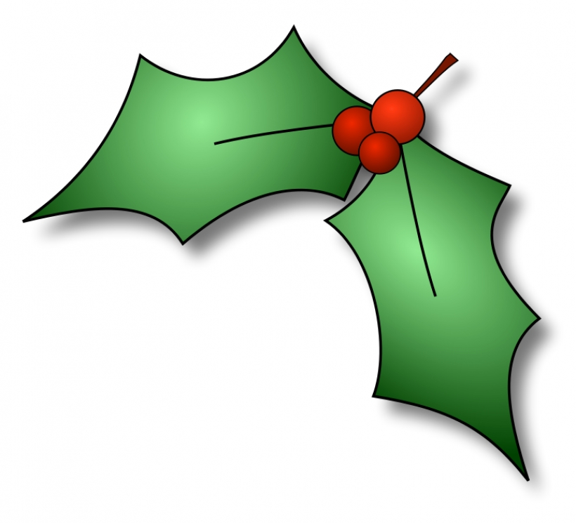 820x745 Clipart Christmas Holly Berries