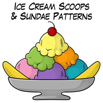 350x350 Ice Cream Scoops And Sundae Patterns By Digital Classroom Clipart