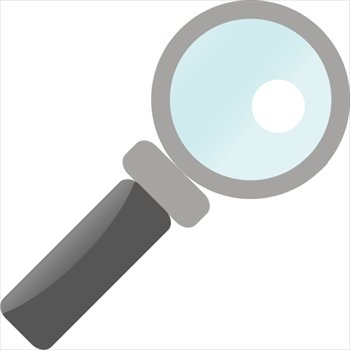 350x350 Free Magnifying Glass Solid Clipart